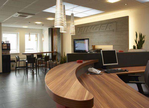 Büroeinrichtung Empfang Innenarchitektur