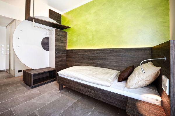 Einzelzimmer Hotel Innenarchitektur